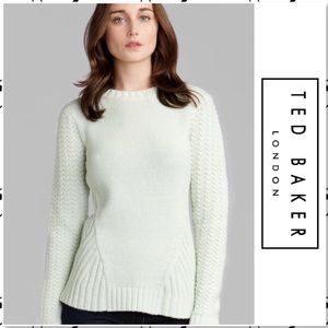 Ted Baker London Lambswool Mint Green Knit Sweater